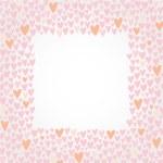 Romantic cartoon border. Cute love hearts frame for invitations — Stock Vector #51801167