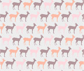 Lovely seamless pattern with deer — Stock Vector