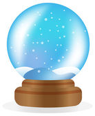 Snow globe isolated on white — Stock Vector