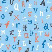 Cute hand drawn alphabet — Stock Vector