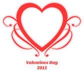 Romantické srdce tvar — Stock vektor