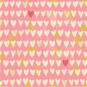 романтический бесшовные модели с небольшой ручной обращается сердца — Cтоковый вектор