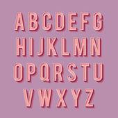 Retro type font. 3d letters — Stock Vector