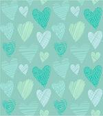 Love hearts seamless pattern — Stock Vector