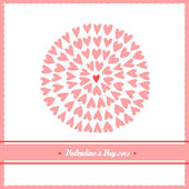 Beautiful valentines day card with hearts — Stockvector