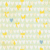 Cute seamless pattern with hand drawn hearts and polka dot background. — Stock Vector