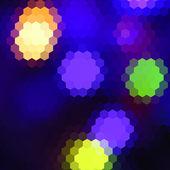 Fond géométrique abstrait vector hétéroclite avec lumières devant servir à la conception de carte, invitation, affiche, bannière, plaque ou un panneau d'affichage de la couverture — Vecteur