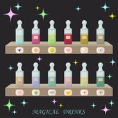 Magical drinks — Stock Vector