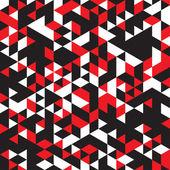 Motifs géométriques abstraites de couleurs rouges, blanches et noires — Vecteur