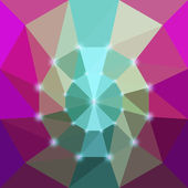 Abstract vector triangular geometric background with glaring lights — Stock Vector