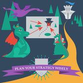 Dragons — Stock Vector