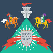 Brave knights — Vector de stock