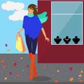 Ragazza alla moda — Vettoriale Stock