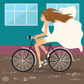 Runaway bride — Stock Vector