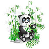Panda bamboo — Stock Vector
