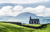 Icelandic church Búðir — Fotografia Stock