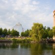 Spokane River in Riverfront Park with Clock Tower — Stock Photo #51787437