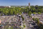 Hoopfest Three on Three Basketball Tournament Spokane WA — 图库照片