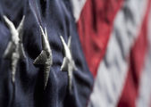 Old Glory Close Up — Stock Photo