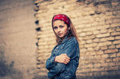 The girl from the nineties — Stock Photo