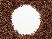 Coffee beans frame background — Stock Photo