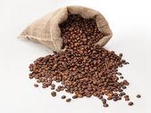散乱豆コーヒー袋 — ストック写真
