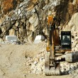 Bulldozer at rest in a quarry marble — Stock Photo #51473873