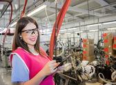 Female employer inspecting — Stock Photo