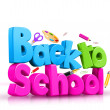 Colorful Back to School 3D Text — Stock Photo #51532969