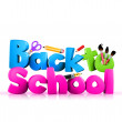 Colorful Back to School 3D Text — Stock Photo #51532977