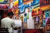 Dahab painter at work — Stock Photo