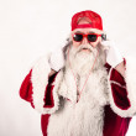 Santa Claus is a Dj — Stock Photo #51664335