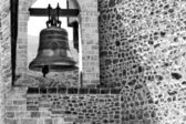 Church bell BW — Stock Photo