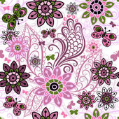 Nahtlose Frühling Vintage Muster