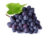 Ripe grapes with leaf