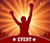 Boxu a mma bojovník - zápas plakát