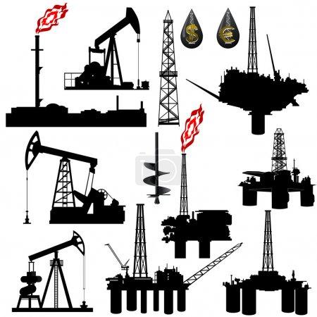 Постер, плакат: Facilities for oil production, холст на подрамнике