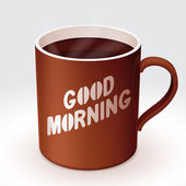 Cup of coffee with 'Good Morning' text
