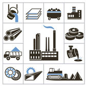 Heavy industry icons For you design