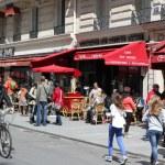 Постер, плакат: View of typical paris cafe