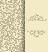 Background with floral pattern Invitation card