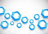 Pozadí s modrými šestiúhelníky