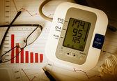 Pokles grafy a vysoký krevní tlak