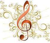 Absztrakt zenei háttér violinkulcs