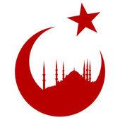 Turecko symbol s Modrá mešita