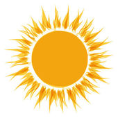 Abstract sun shape for your design