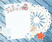 Lettera a Babbo Natale. sfondo orizzontale