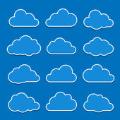 Collection of cloud icons Vector illustration