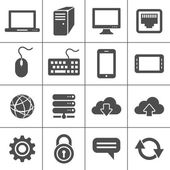 Simplus icons series Network and mobile devices Network connections