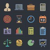 Business Icons Flat Metro Style Icon Set Vector illustration